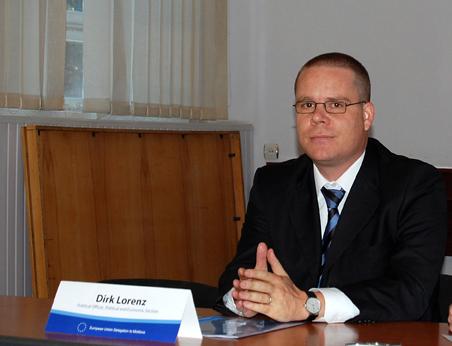 Dirk Lorenz, ofiţerul politic al Delegaţiei Uniunii Europene la Chişinău