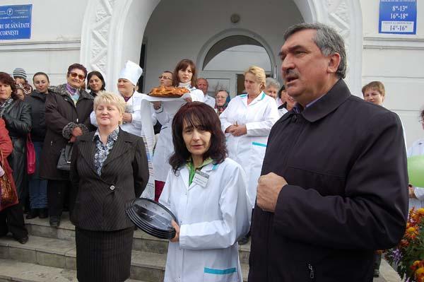Vladimir Hotineanu la deschiderea Centrului de Sanatate de la Cornesti