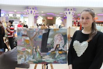 MARINA VACARAȘ, ELEVĂ LA ȘCOALA DE ARTE DIN UNGHENI A ADUS ACASA PREMIUL I