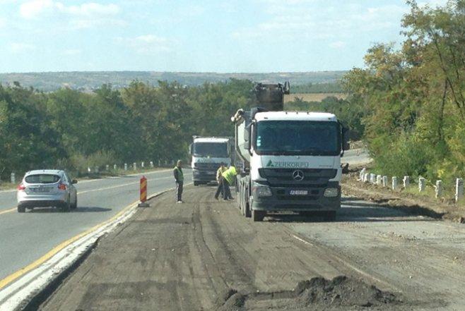 Reparatia drumului Chisinau-Ungheni