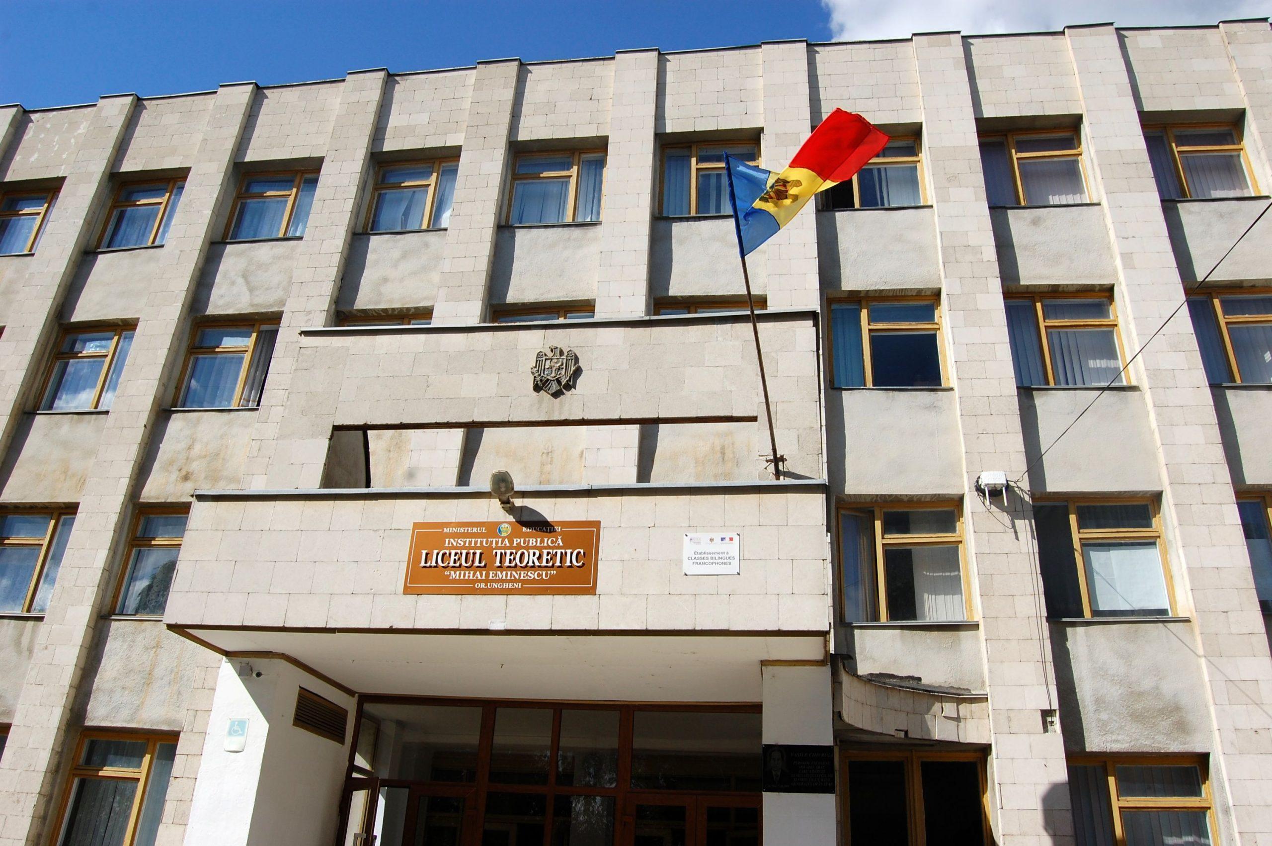 """Liceul """"Mihai Eminescu"""" din Ungheni"""