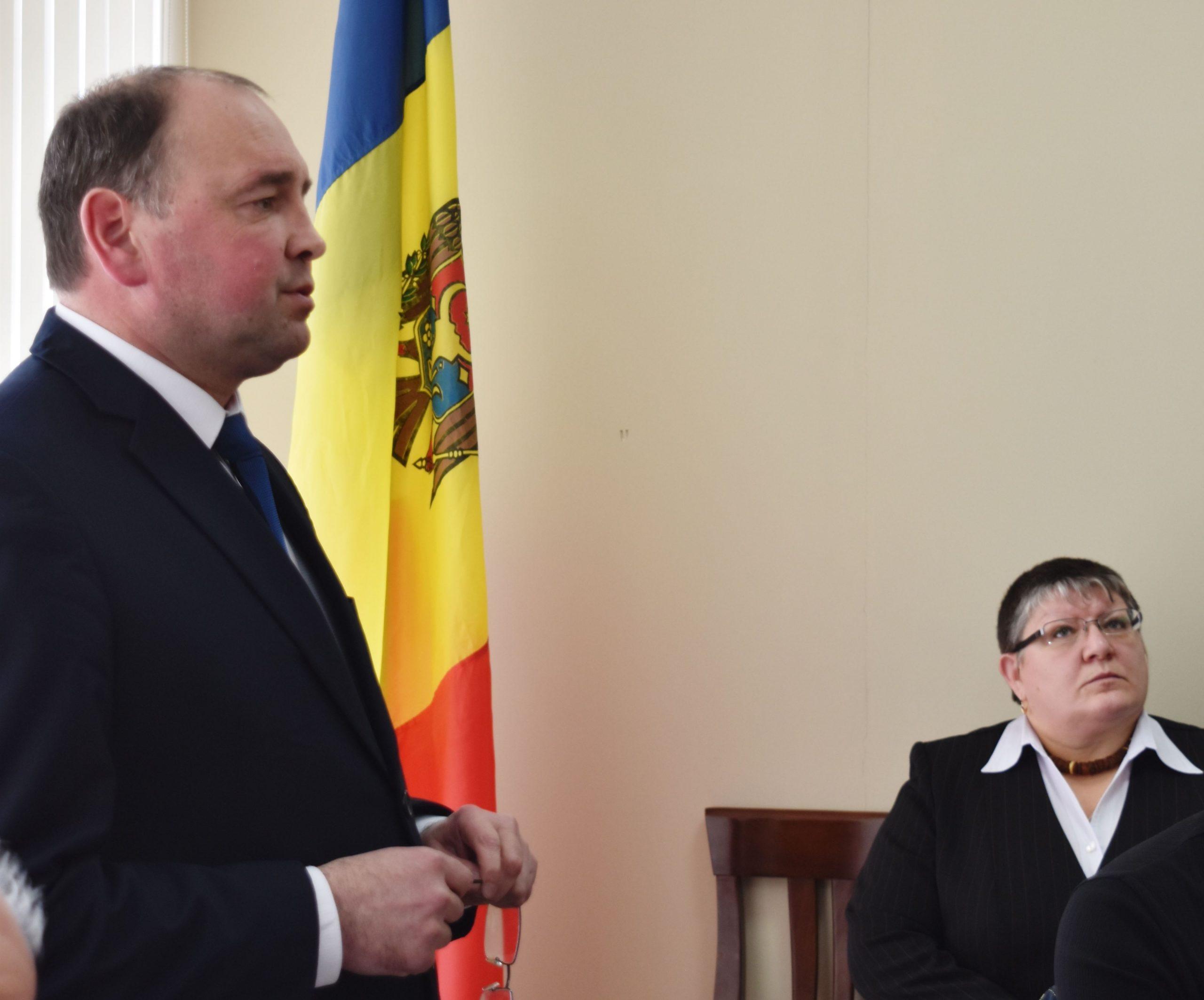 Primarul Alexandru Ambros și candidata la funcția deviceprimar, Lilia Bernic