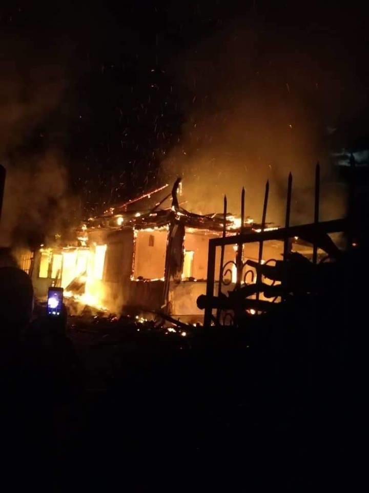 Incendiul de la Rădenii Vechi / facebook.com