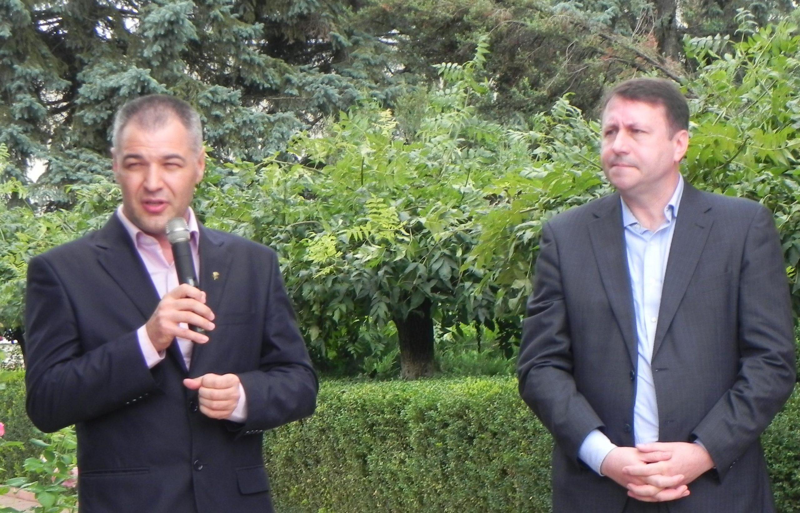 Octavian Țîcu și Igor Munteanu la Ungheni