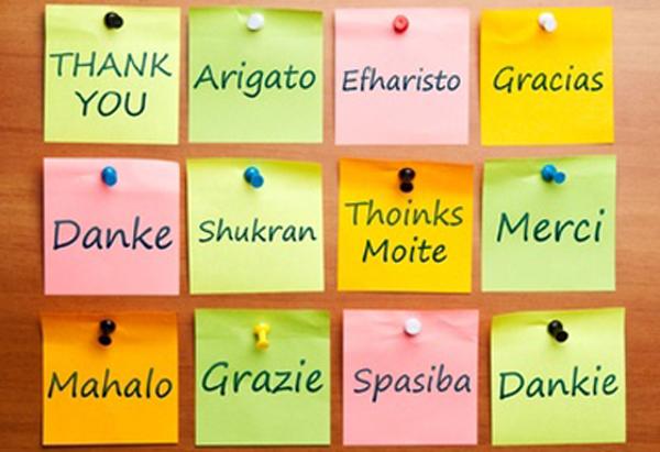 """Cuvântul """"Mulțumesc"""" în 12 limbi"""
